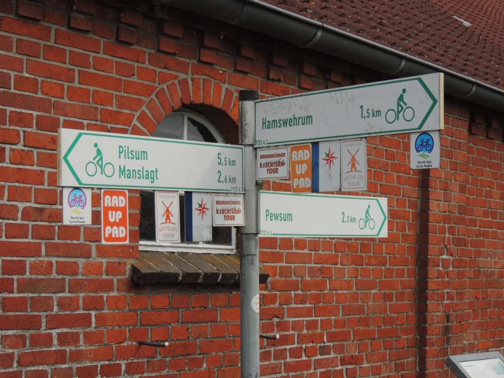 Kreuzungspunkt mehrerer überegeionaler Radwege